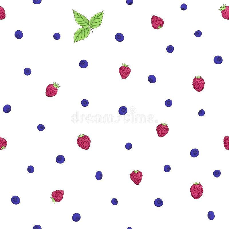 Naadloos natuurlijk patroon vector illustratie
