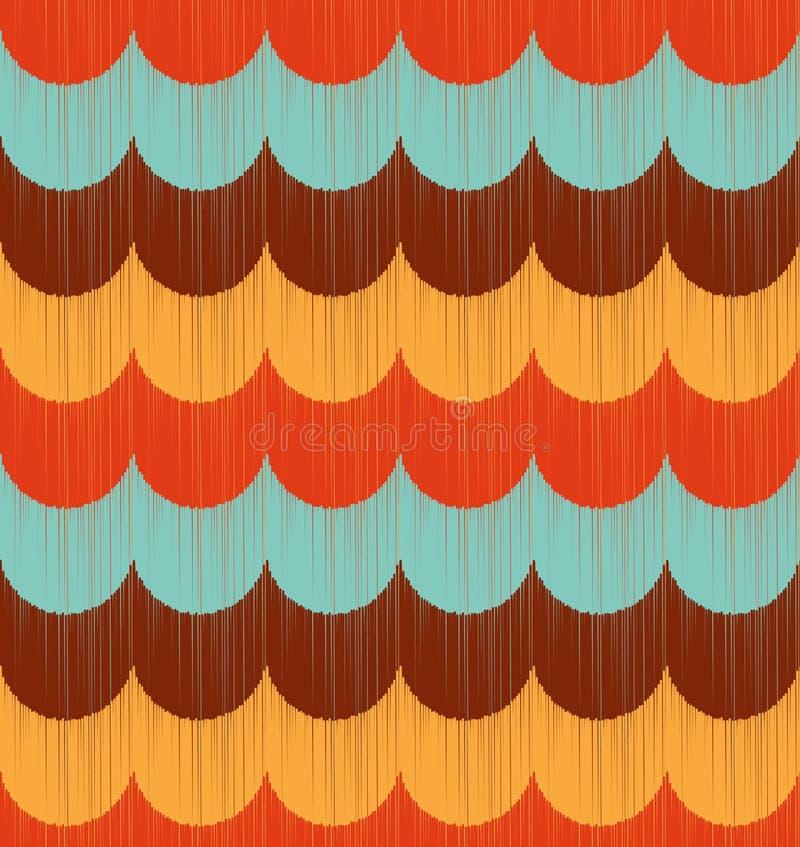 Naadloos oceaangolf geweven patroon stock illustratie