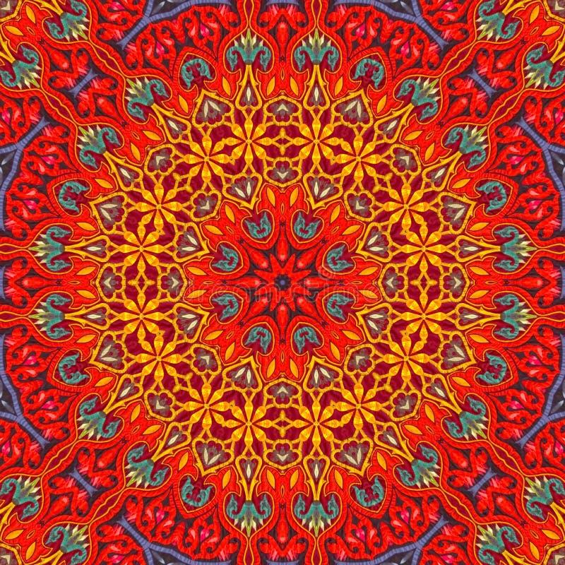 Naadloos ontwerp 018 van het khayameyapatroon stock afbeeldingen