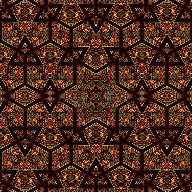 Naadloos ontwerp 030 van het khayameyapatroon vector illustratie