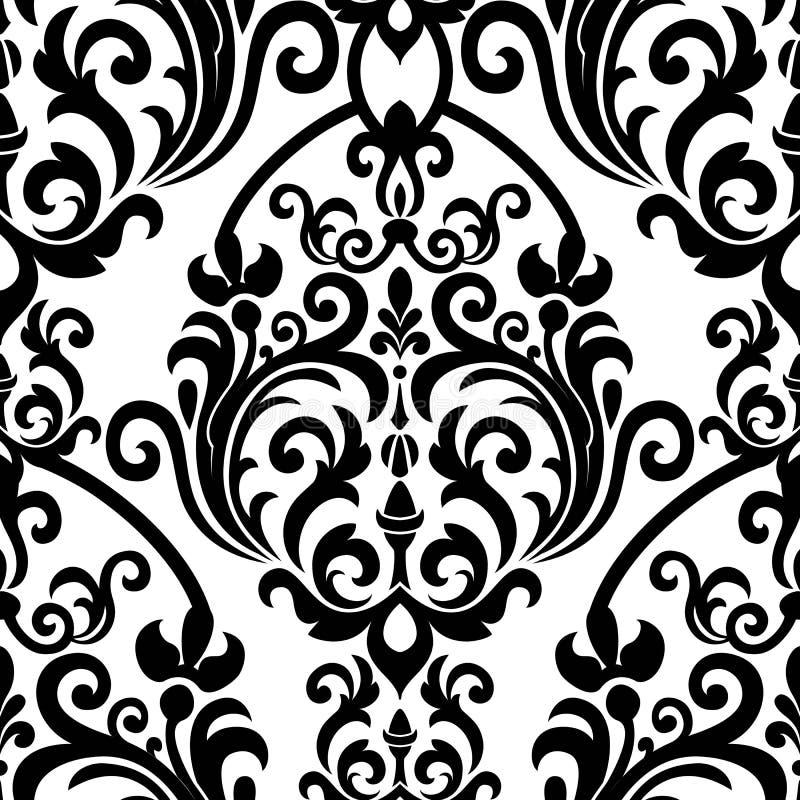 Naadloos oosters patroon Vector uitstekend bloemen naadloos patroonelement Het damast Wallpaper royalty-vrije illustratie