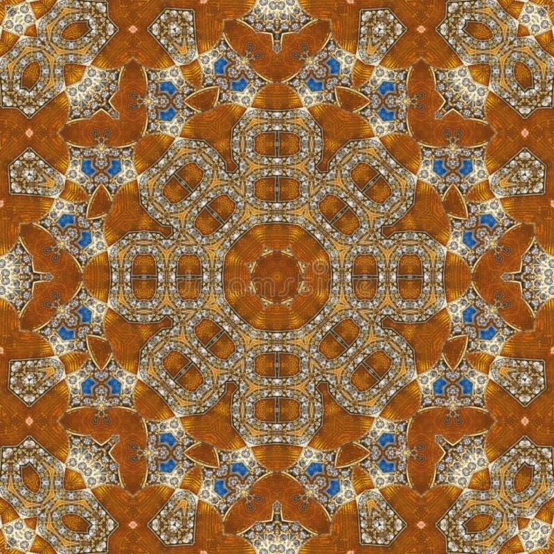 Naadloos oranje juweelpatroon 008 royalty-vrije stock afbeeldingen