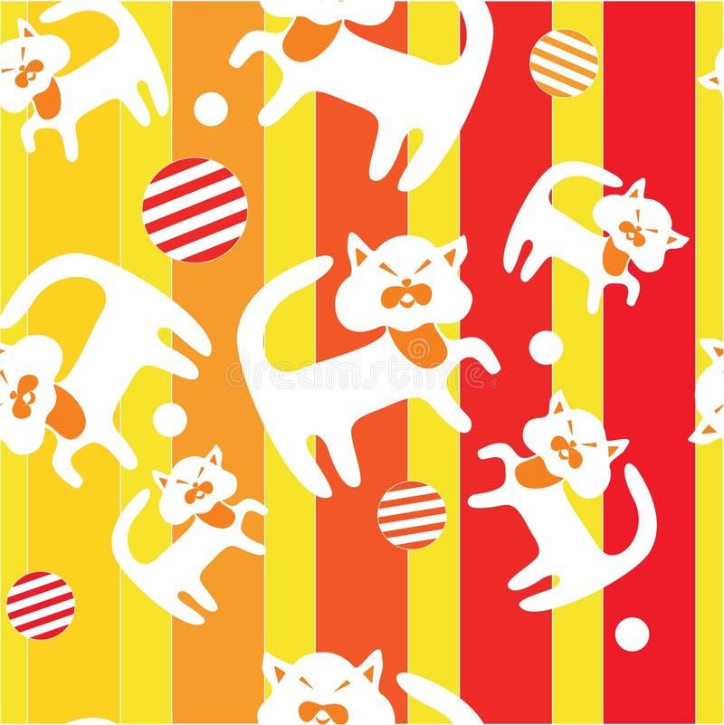 Naadloos ornament in kleur 14 stock illustratie