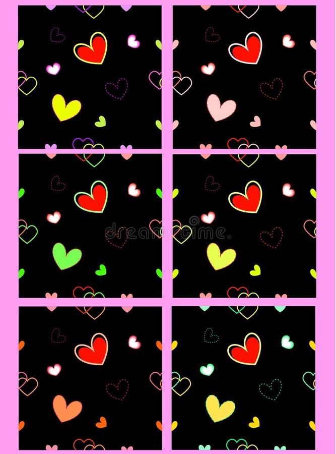 Naadloos ornament met harten vector illustratie