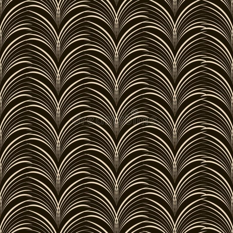 Naadloos ornamentpatroon Bloemen modieuze achtergrond Vectorrep vector illustratie