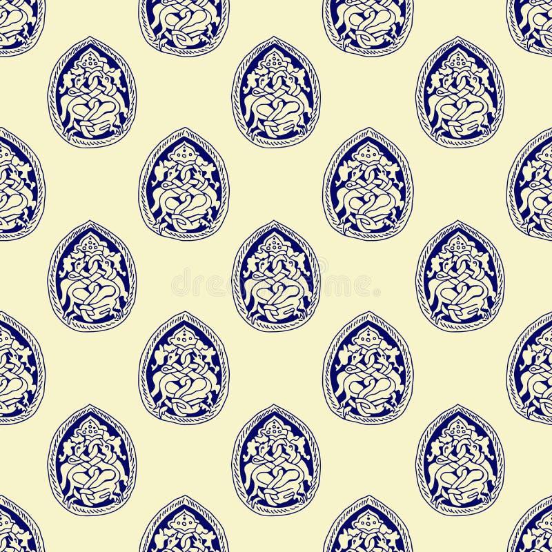 Naadloos oud Russisch patroon vector illustratie