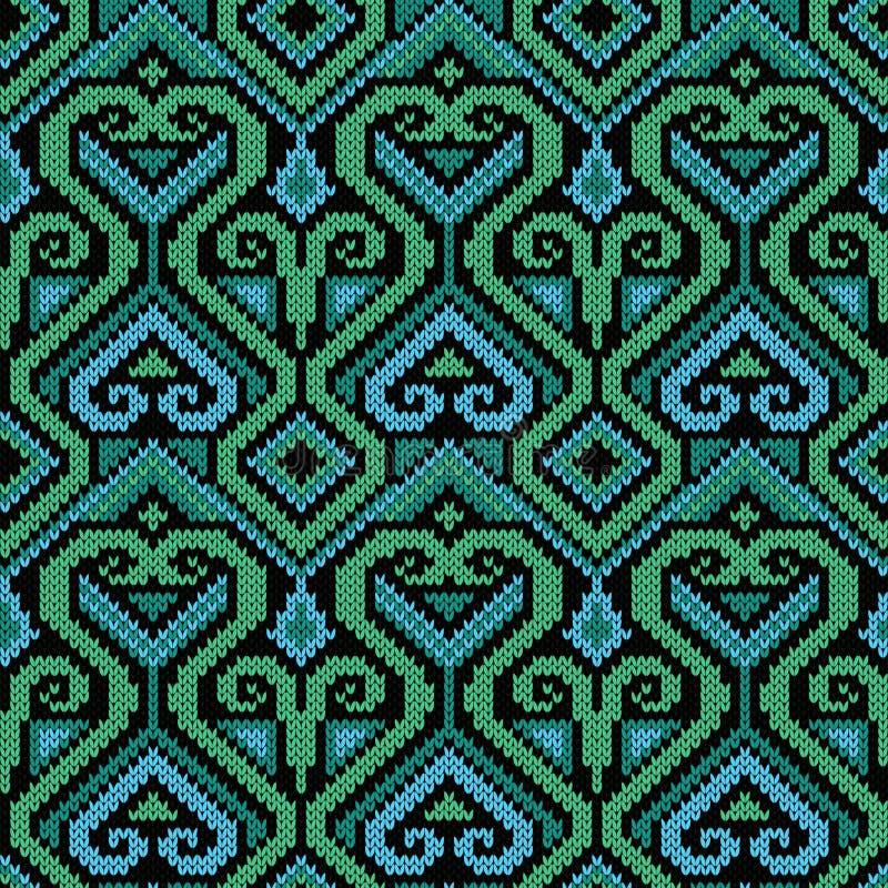 Naadloos overladen gebreid patroon vector illustratie