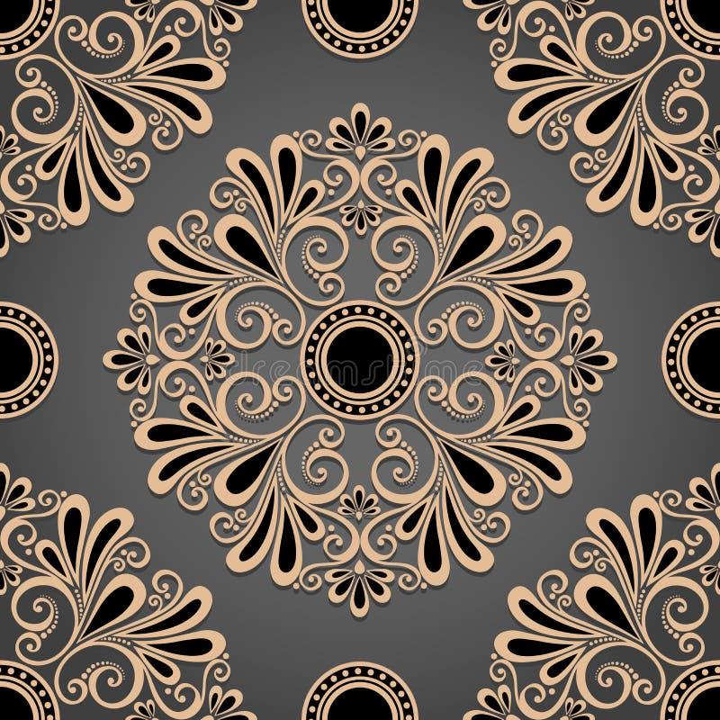 Naadloos Overladen Patroon (Vector) stock illustratie