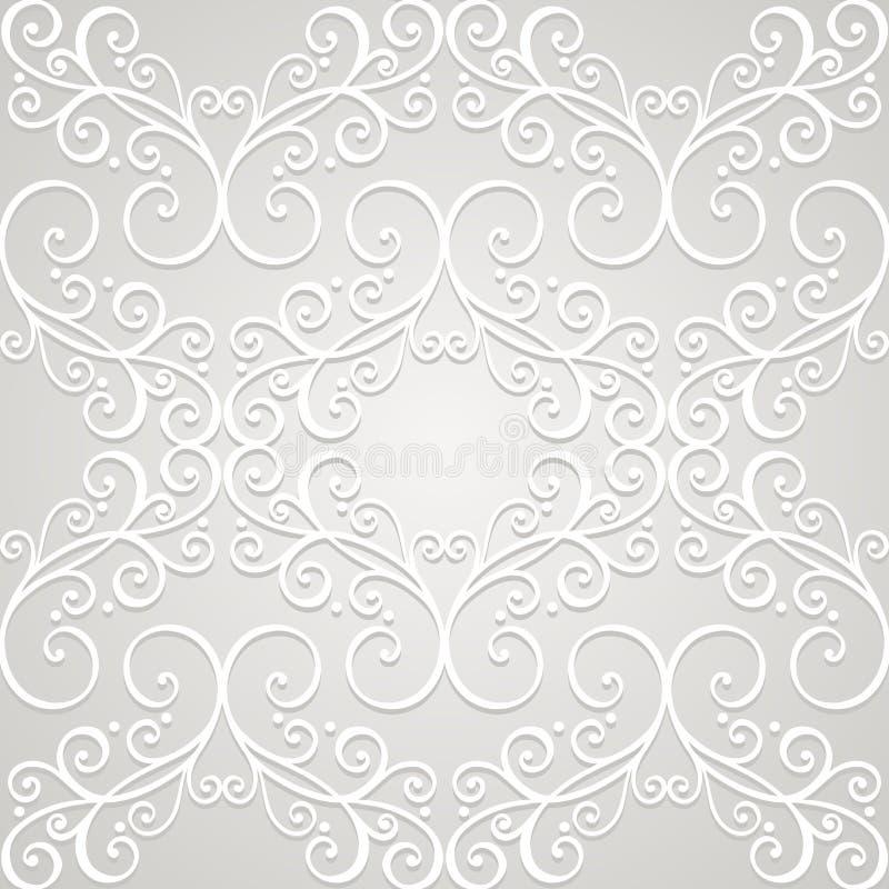 Naadloos Overladen Patroon (Vector) vector illustratie