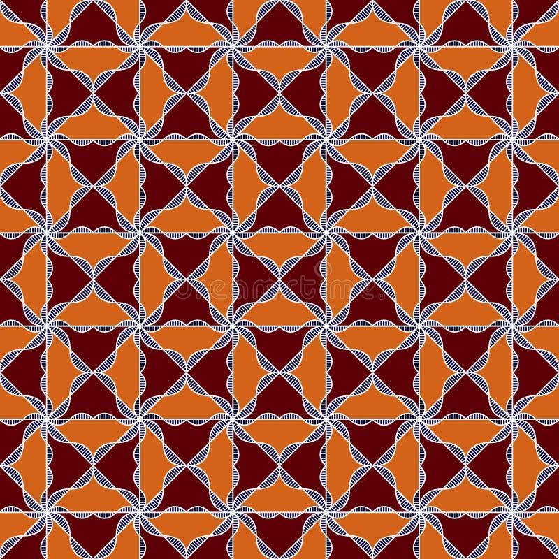 Naadloos overladen patroon vector illustratie