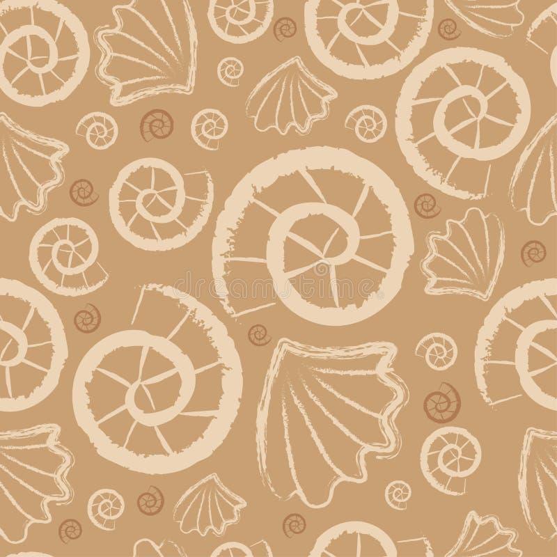 Naadloos overzees patroon vector illustratie