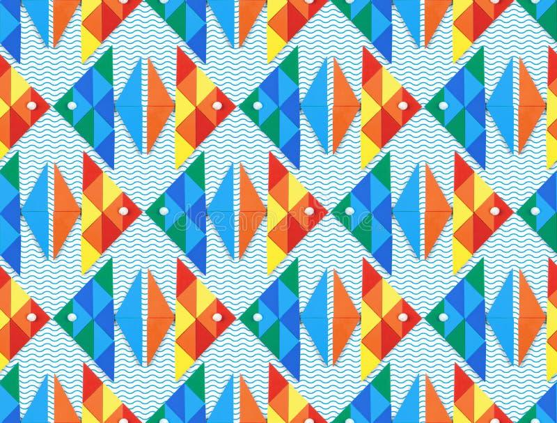 Naadloos overzees patroon met vissen vector illustratie