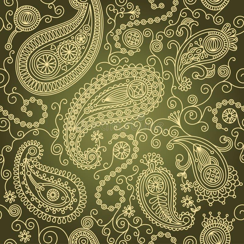 Naadloos Paisley vector illustratie