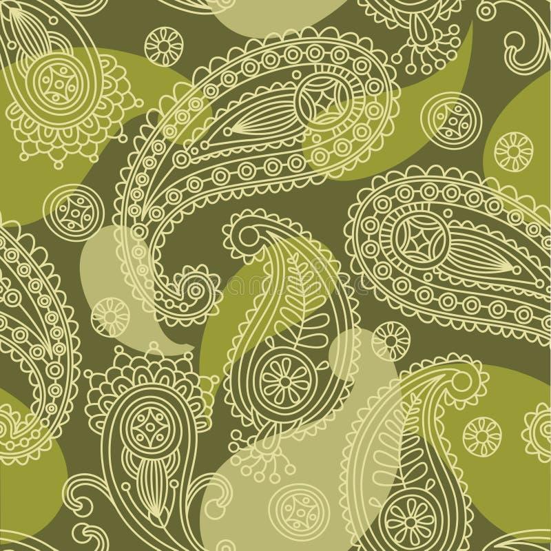 naadloos Paisley stock illustratie