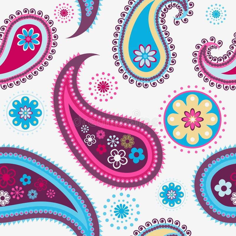 Naadloos Paisley patroon stock illustratie