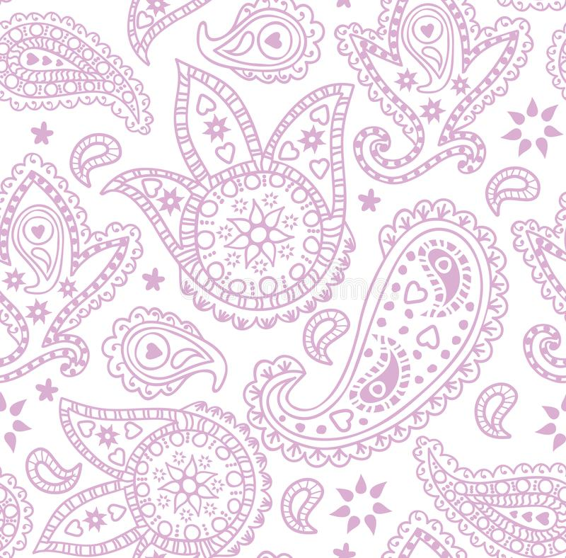 Naadloos Paisley patroon Vector illustratie vector illustratie