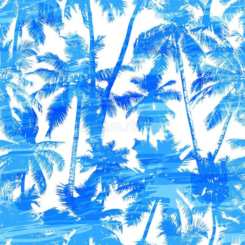 Naadloos palmpatroon royalty-vrije illustratie