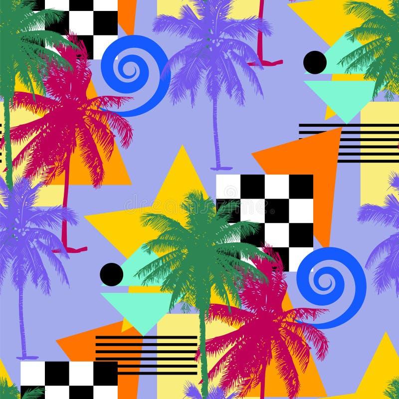 Naadloos palmpatroon stock illustratie