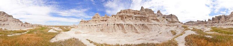 Naadloos panorama 360 van badlands stock fotografie
