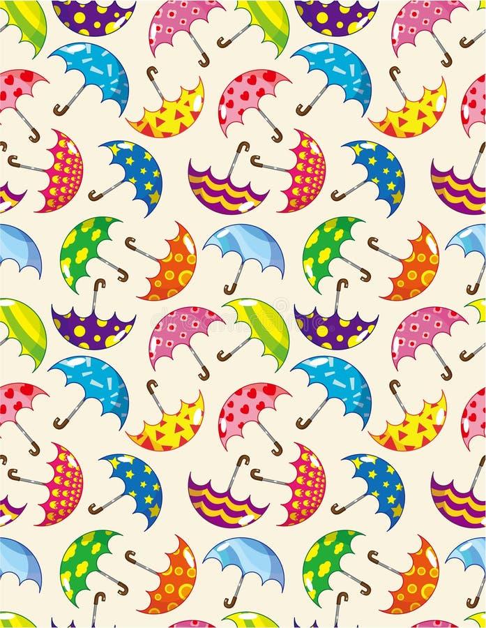 Naadloos paraplupatroon royalty-vrije illustratie