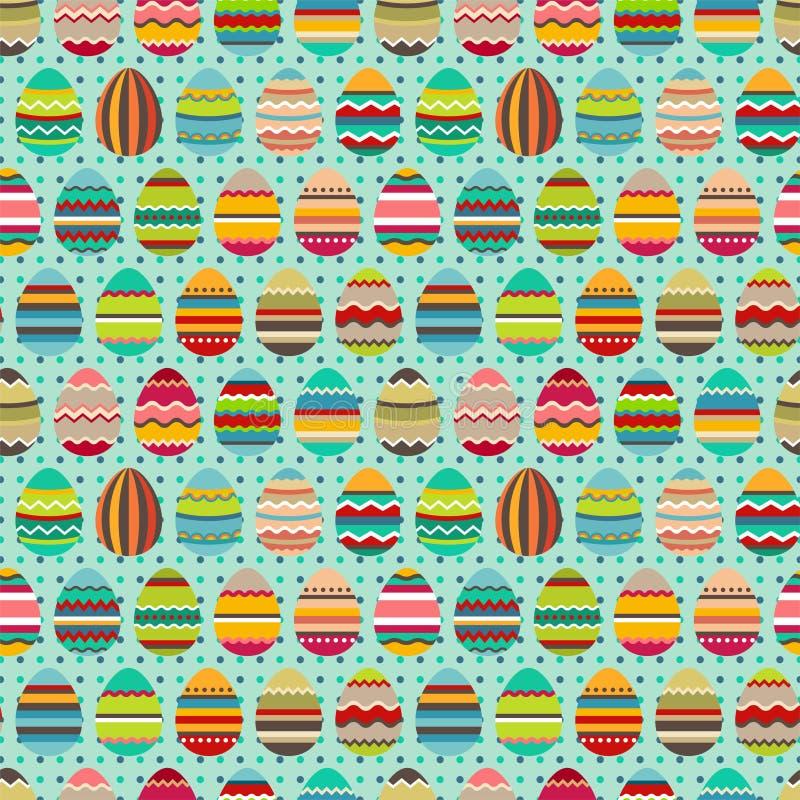 Naadloos Pasen-patroon met geschilderde eieren vector illustratie