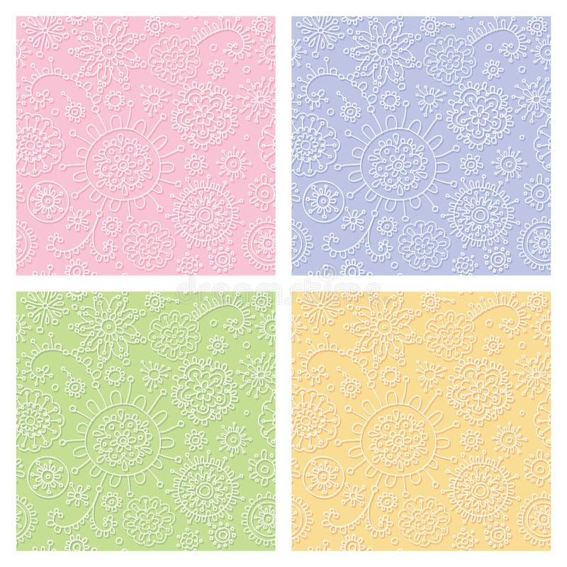 Naadloos pastelkleur decoratief patroon stock illustratie