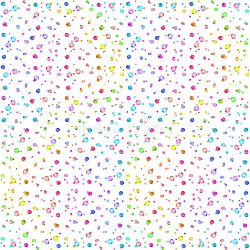 Naadloos patroon, abstracte lijnen op purper-roze waterverfachtergrond royalty-vrije illustratie