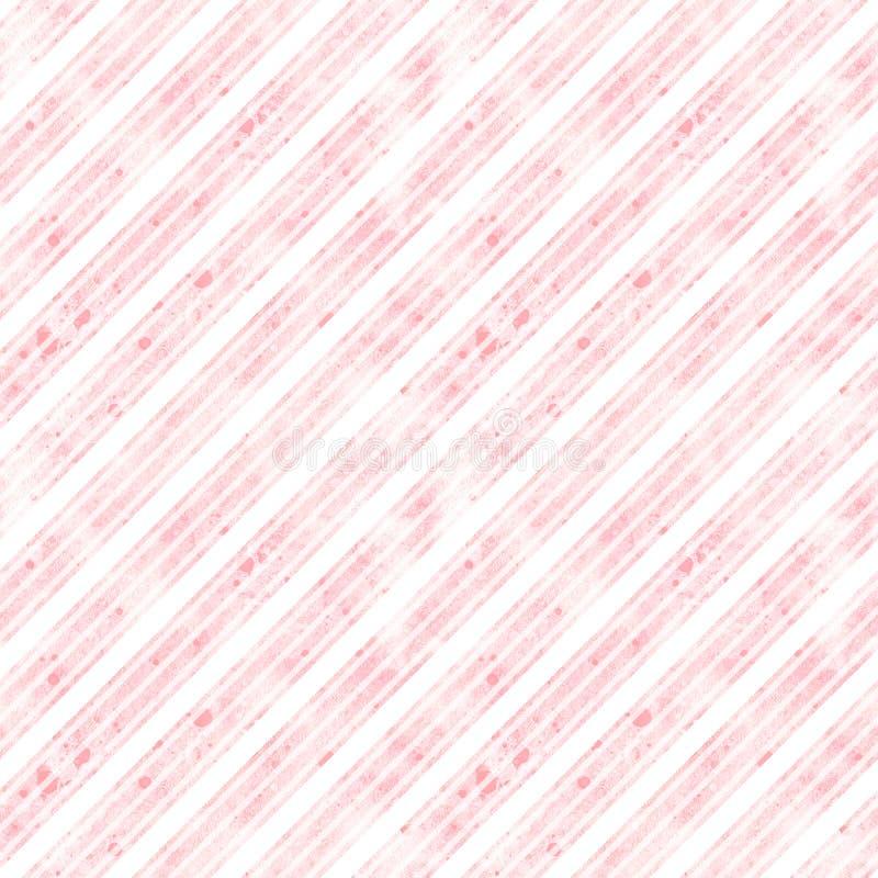 Naadloos patroon, abstracte lijnen op purper-roze waterverfachtergrond vector illustratie