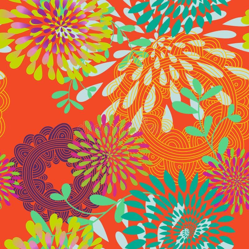 Naadloos Patroon Als achtergrond (altkleuren)) stock illustratie