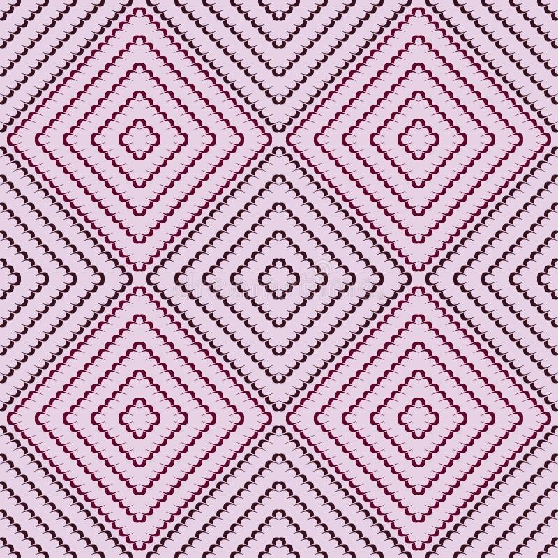 Naadloos patroon als achtergrond met het herhalen van eindeloze chocolade vawes vector illustratie