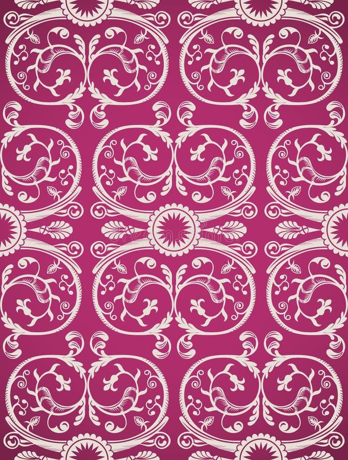 Download Naadloos Patroon Als Achtergrond Schoonheidswijnoogst Vector Illustratie - Illustratie bestaande uit krul, patroon: 54088892