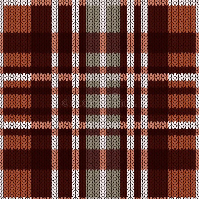 Naadloos patroon als gebreide stof in bruine en grijze kleuren vector illustratie
