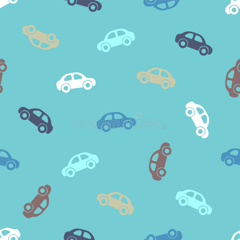 Naadloos patroon - auto's vector illustratie
