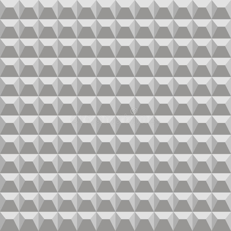 Naadloos patroon Concrete omheining stock illustratie