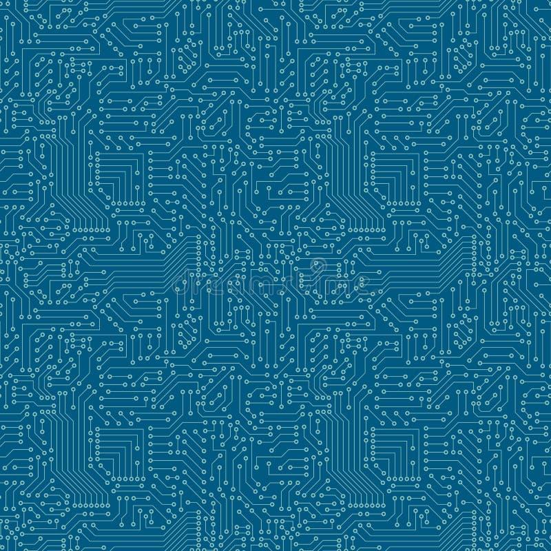 Naadloos patroon De kringsraad van de computer vector illustratie