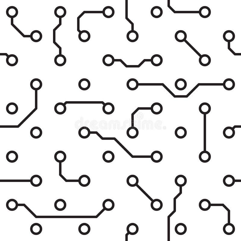 Naadloos patroon - de raad van de computerkring vector illustratie