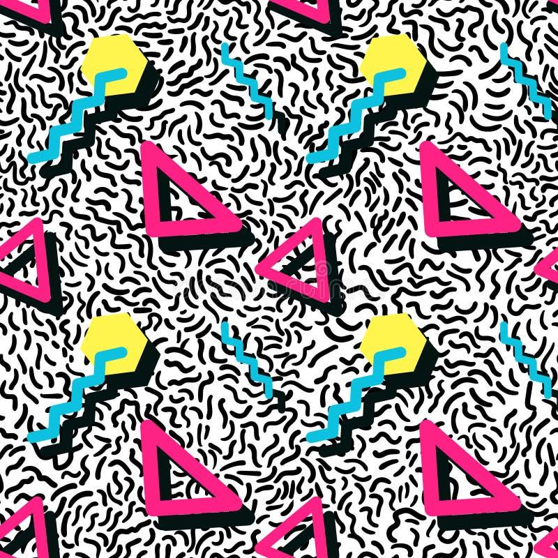 Naadloos patroon in de stijl van Memphis stock illustratie