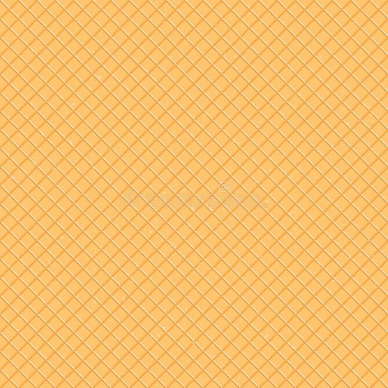 Naadloos patroon De textuur van de wafel, een roomijskegel Beeldverhaalillustratie voor Web, plaats, reclame, banner royalty-vrije illustratie