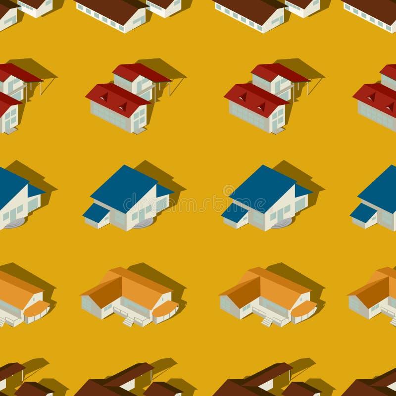 Naadloos patroon in de voorsteden royalty-vrije illustratie