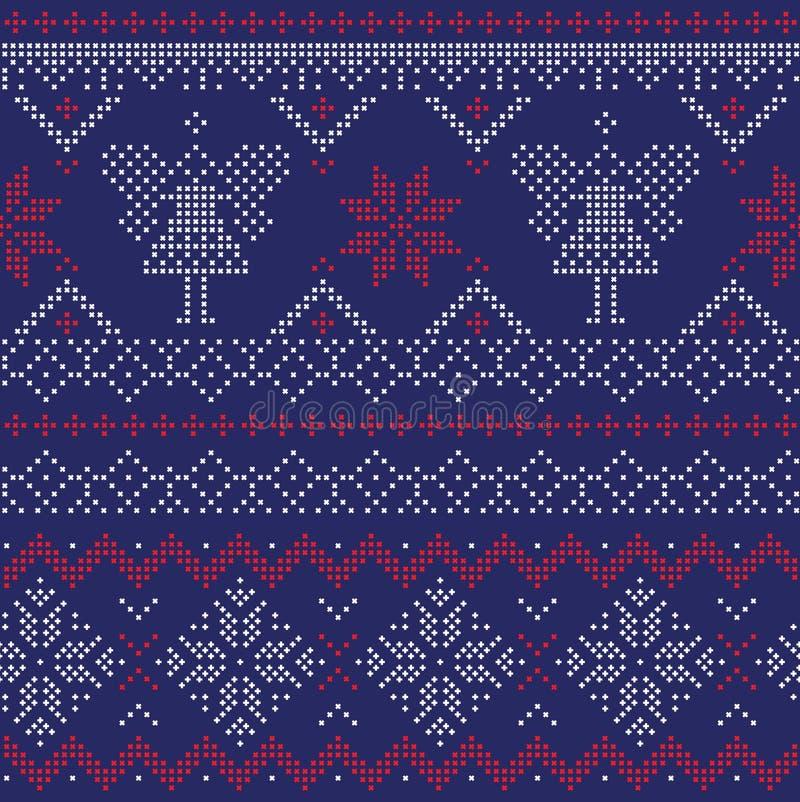 Naadloos Patroon - de Winter, Kerstmis, Nieuwjaar royalty-vrije illustratie