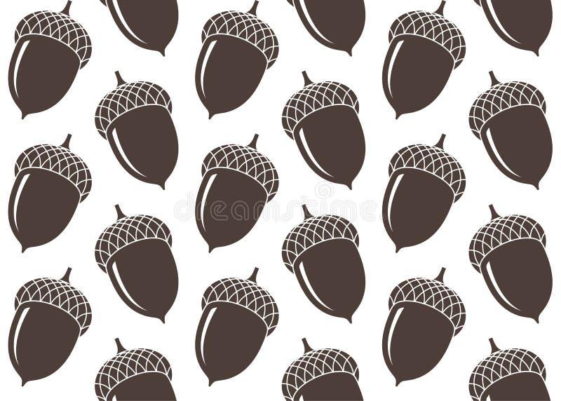 Naadloos patroon eikel vector illustratie