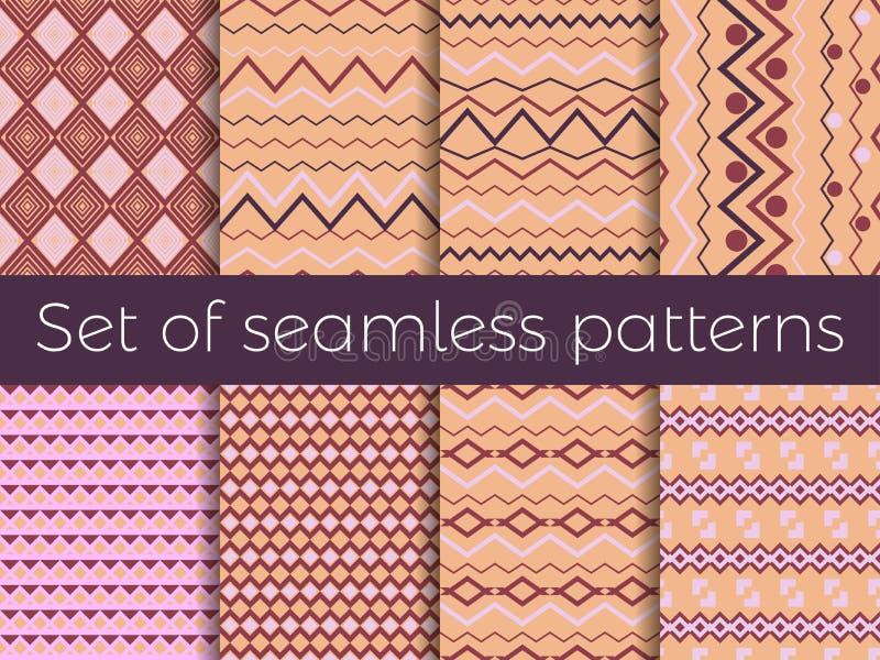 Naadloos patroon in etnische stijl Stammen naadloze textuur, stijlhippie Bohostrepen Vector vector illustratie