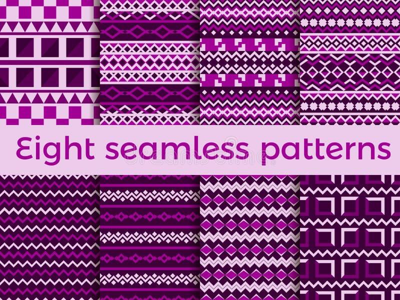 Naadloos patroon in etnische stijl Stammen naadloze textuur, stijlhippie Bohostrepen Vector royalty-vrije illustratie