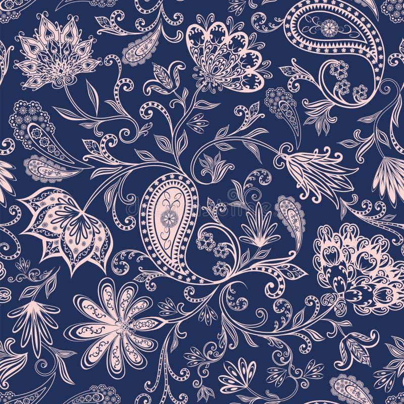 Naadloos patroon in etnische in traditionele stijl stock afbeelding