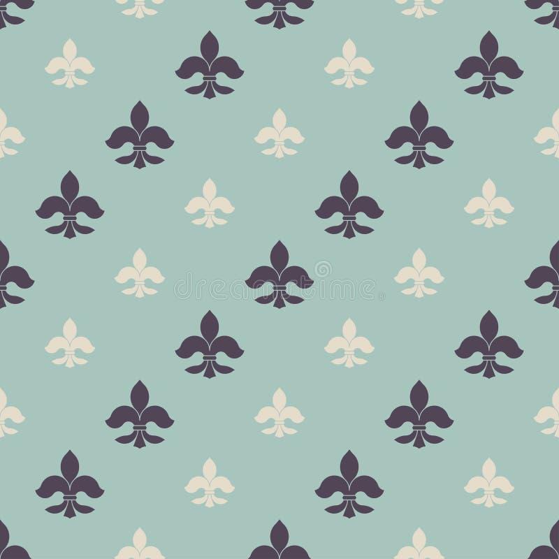 Naadloos patroon fleur-DE stock illustratie