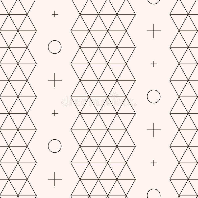 Naadloos patroon Geometrische textuur stock illustratie