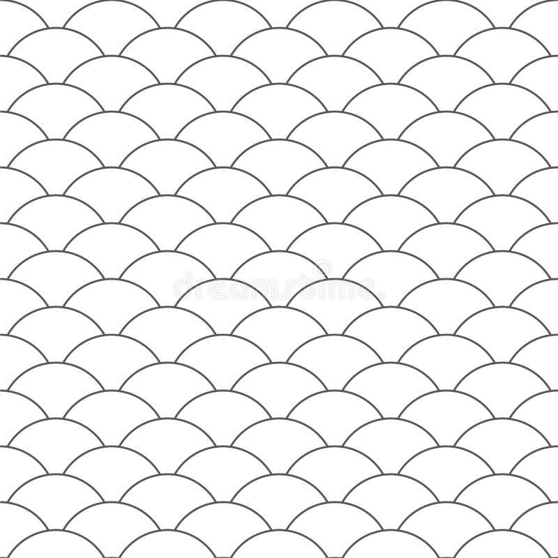 Naadloos patroon golf De textuur van vissenschalen Vector illustratie Plakboek, gift verpakkend document, textiel Rebecca 36 stock illustratie