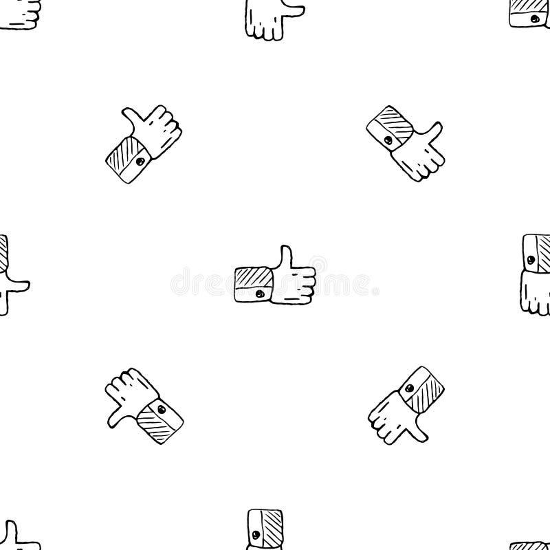Naadloos patroon Handdrawn als krabbelpictogram Hand getrokken zwarte schets tekensymbool Genomen in Genua, Itali? Witte achtergr vector illustratie