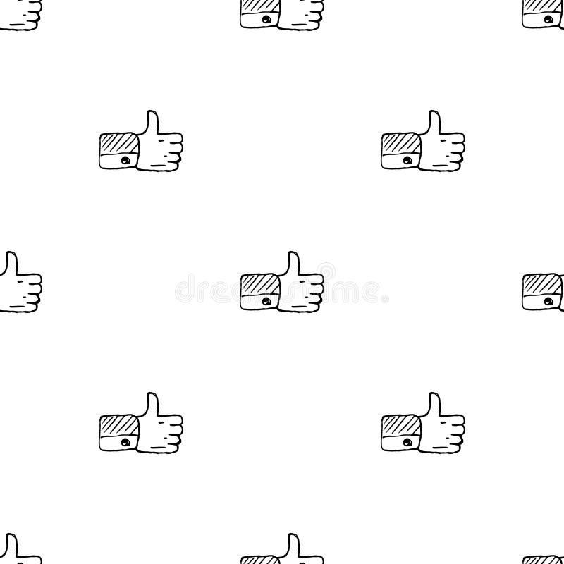 Naadloos patroon Handdrawn als krabbelpictogram Hand getrokken zwarte schets tekensymbool Genomen in Genua, Itali? Witte achtergr stock illustratie