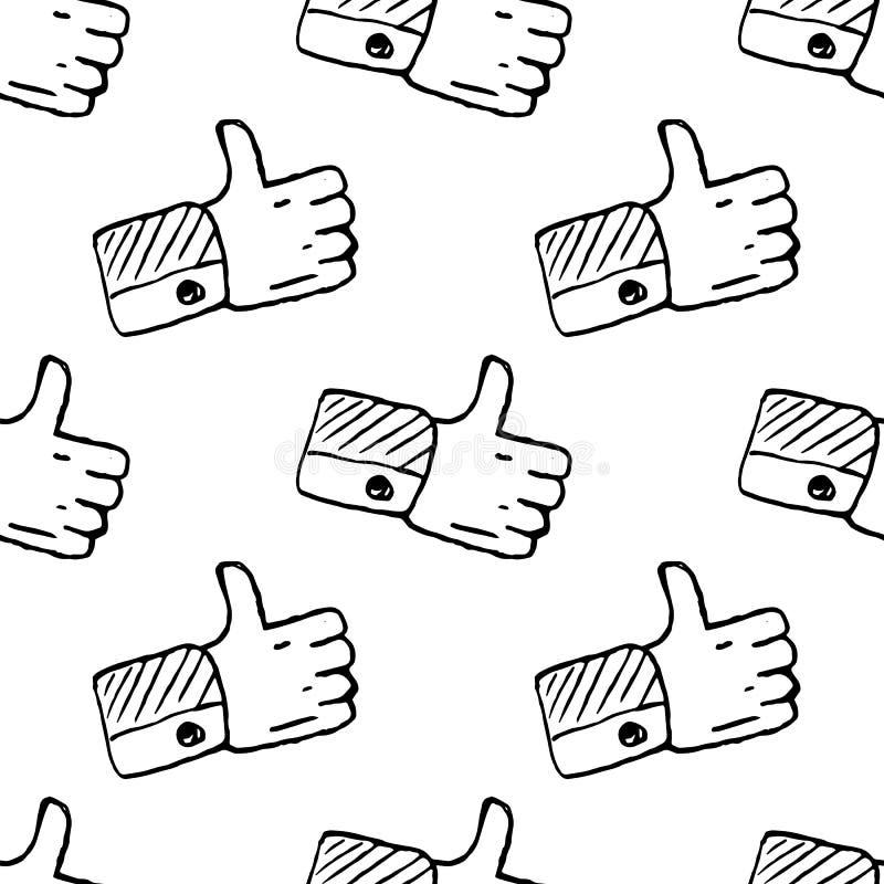 Naadloos patroon Handdrawn als krabbelpictogram Hand getrokken zwarte schets tekensymbool Genomen in Genua, Itali? Witte achtergr royalty-vrije illustratie